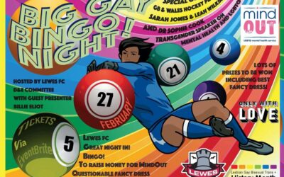 I'm Hosting a Big Gay Bingo Party organised by Lewes FC for Charity MindOut!
